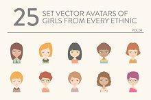 25 vector avatars of girls vol.04