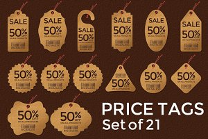 Price Tags - Set of 21