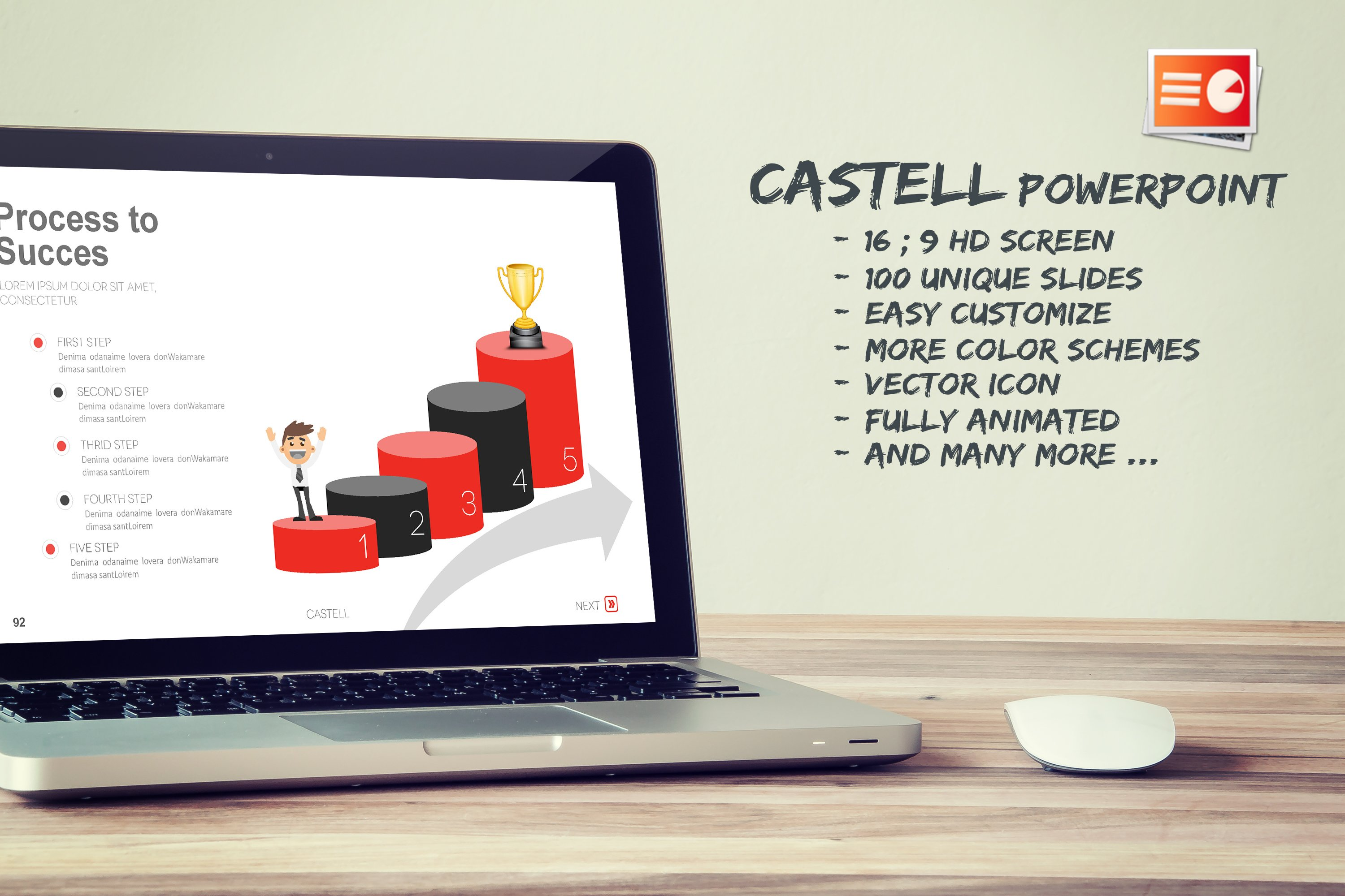 Castell Powerpoint Template ~ Presentation Templates ~ Creative Market