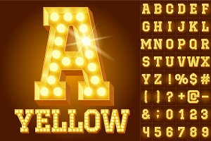 Light up yellow alphabet
