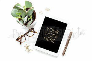 #263 PLSP Styled Tablet Stock Photo
