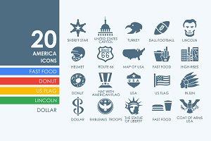 20 United States icons
