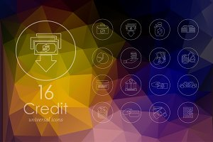 16 Credit line icons