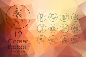 12 Career Ladder icons