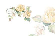 Floral branch 2. Watercolor