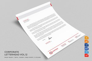 Corporate Letterhead 12 with MS Word