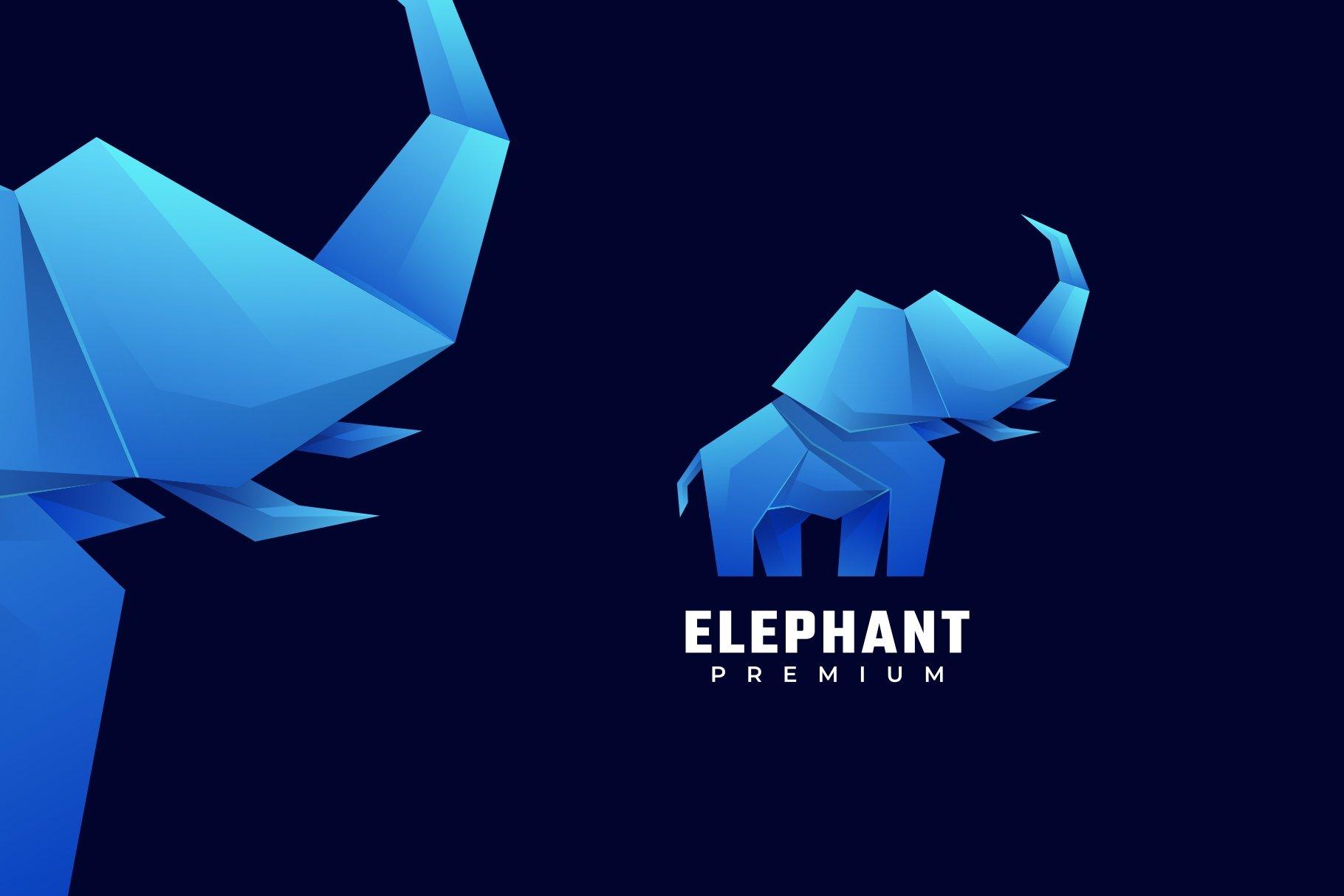 elephant logo creative market elephant low poly logo