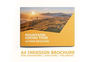 Indesign A4  Hiking Brochure