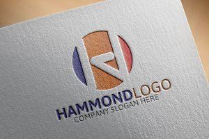 Hammond -H Letter Logo /-45%off