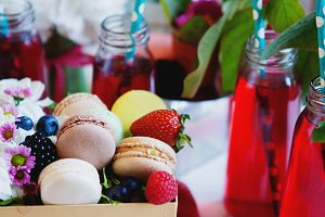 Macarons and lemonade