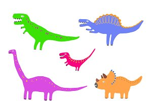 Colour dinosaurs set