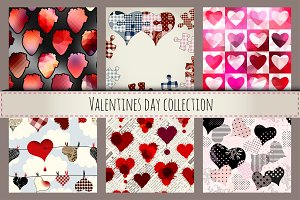 Hearts collection in different syle.