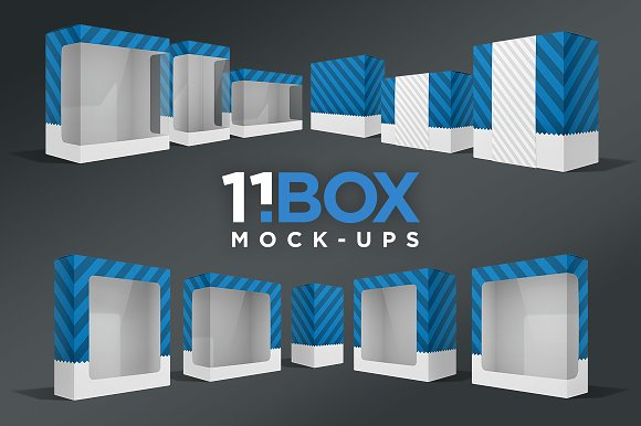 Download 11 Box Perspective Package Mockups - Free PSD Mockup