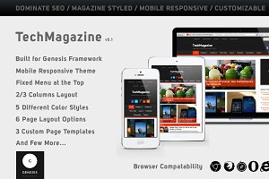 TechMagazine – Genesis 2 Child Theme