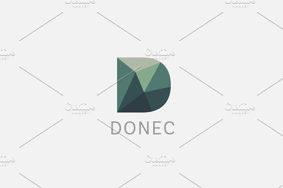 Polygon letter D logo. Colorful font - Logos