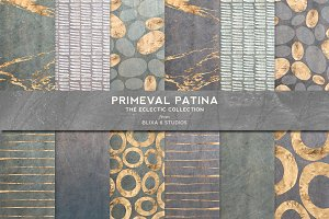 Primeval Patina Watercolor & Gold