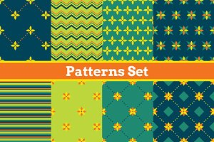 8 Seamless geometrical patterns.