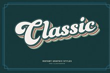Retro Text Graphic Styles by  in Add-Ons