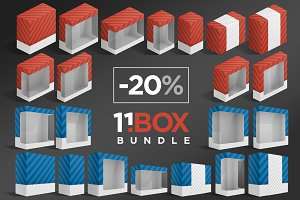 11 Box Package Mockups Bundle
