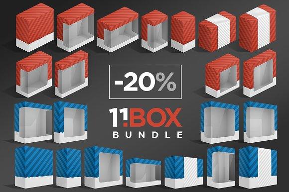 Download 11 Box Package Mockups Bundle