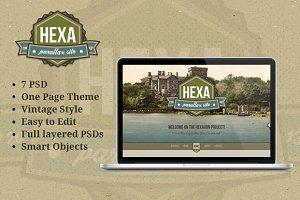 Hexa - Vintage Portfolio Template
