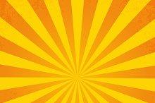 Retro ray orange background
