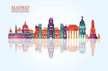 Madrid skyline.