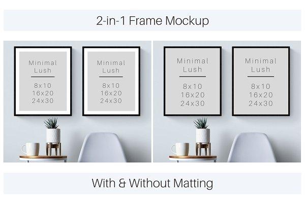 Double Frames 8x10 16x20 24x30 Creative Photoshop Templates Creative Market