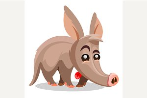 Aardvark vector illustration.