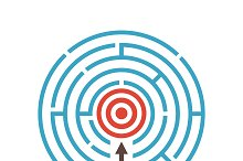 target in maze