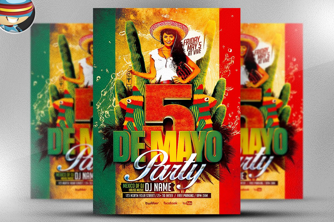 Mexican Party Flyer Template Flyer Templates Creative