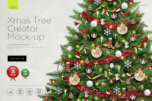 Download Christmas Tree Creator Mock-up