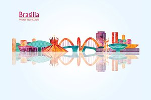 Brasilia detailed skyline