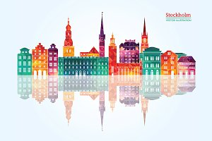 Stockholm detailed skyline