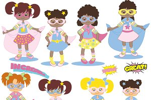 Clipart Superheros Girls AMB-118