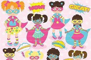 Superhero Girls Clipart AMB-120