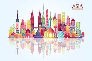 Asia detailed skyline