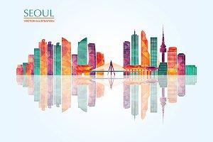 Seoul detailed skyline
