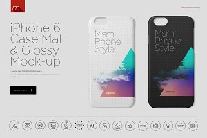 iPhone 6 Case Glossy & Mat Mock-up