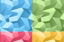 Colored 3d Crumpled background