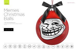 Memes Christmas Balls