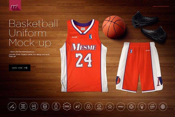 Free Basketball Uniform Mock-up