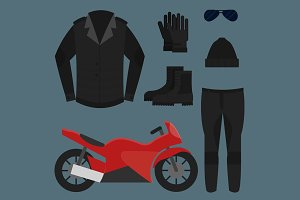 Set Biker Apparel