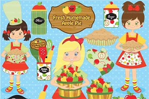 Clipart Apples & Baking AMB-137