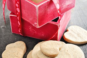 Shortbread cookies, Valentine's Day