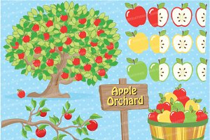 Apple Orchard Clipart, AMB-138