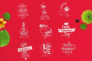 Valentine's Day typographic concepts
