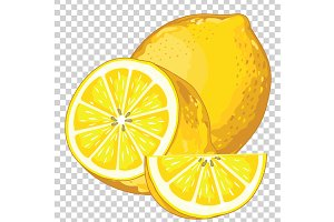Lemon Isolated, Vector.