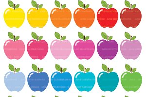 Apple Clipart, Bright Colors AMB-139