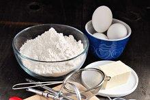Baking cookies, ingredients